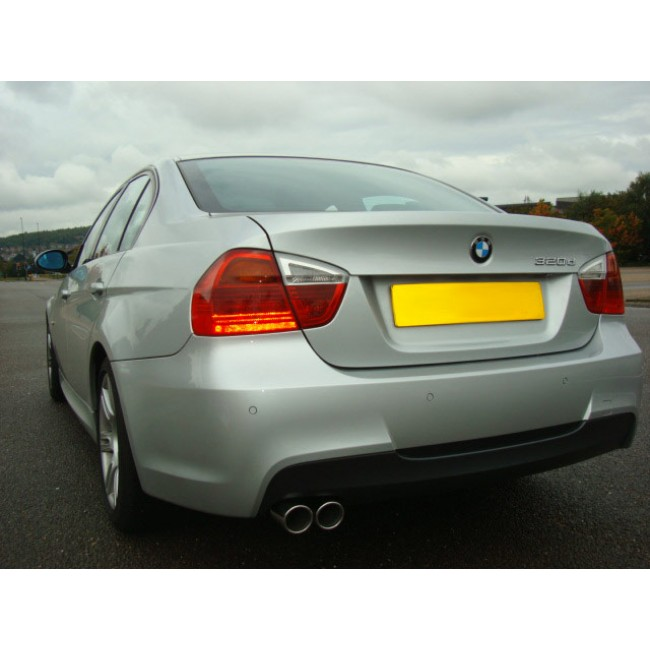 cobra bmw 318d 320d diesel e90 e91 exhaust back box rear silencer twin exit bm66 ebay. Black Bedroom Furniture Sets. Home Design Ideas